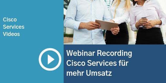 Comstor_Webinar Recording Cisco Services für mehr Umsatz