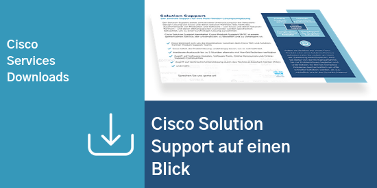 Comstor_Cisco Solution Support auf einen Blick